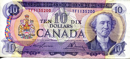 10 Dollars  VF/F (see large scan) Banknote