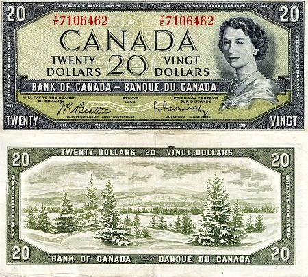 20 Dollars  VF/F (see scan) Banknote