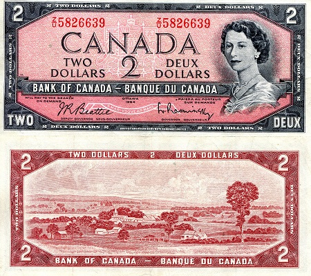 2 Dollars  VF/F (see scan) Banknote
