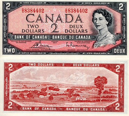 2 Dollars  aUNC/XF (see scan) Banknote