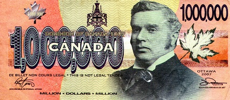 1 Million Dollars  VF (see scan) Banknote