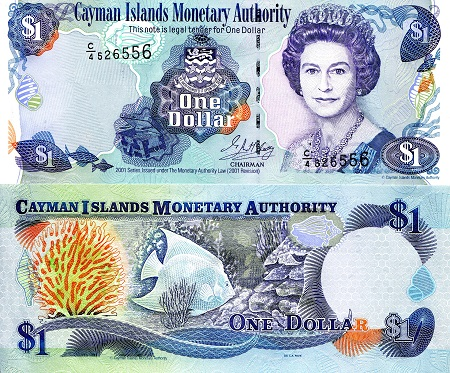 1 Dollar Unc Banknote Country Cayman Islands