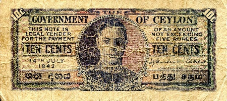 10 Cents  VG/G (thin) Banknote