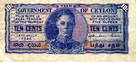 10 Cents  F Banknote