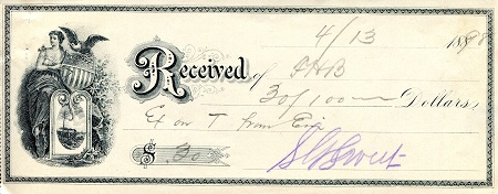 Reciept  Not Graded (see scan) Banknote