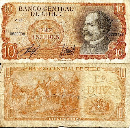 10 Escudos  VG (see scan) Banknote