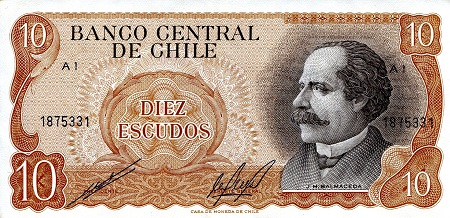 10 Escudos  VF (see scan) Banknote