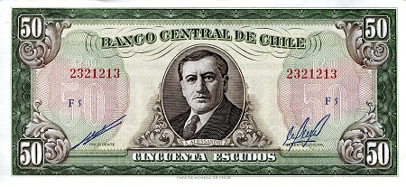 50 Escudos  XF (see large scan) Banknote