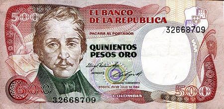 COLOMBIA NOTE $2 1976 REPLACEMENT UNC