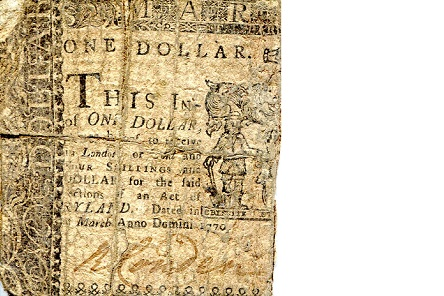 1 Dollar  Very Poor (half note) Banknote
