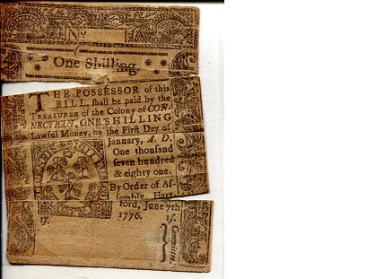 1 Shilling  Poor (in 3 parts - taped) Banknote