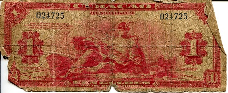 1 Gulden  G/Poor (see large scan) Banknote