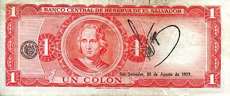 1 Colon  VG (see large scan) Banknote