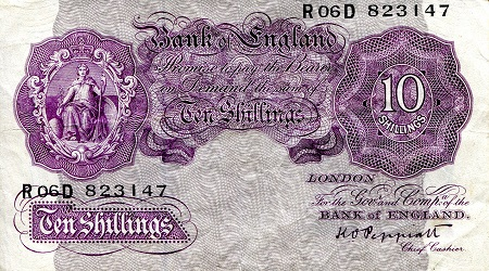 10 Shillings  F/VG (see large scan) Banknote