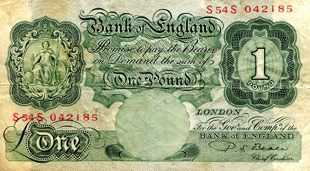 1 Pound  VG (see large scan) Banknote