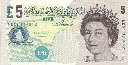 5 Pound  XF (See scan) Banknote