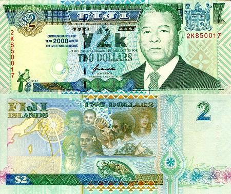 Fiji 10 Dollars p-116 2012 UNC Banknote