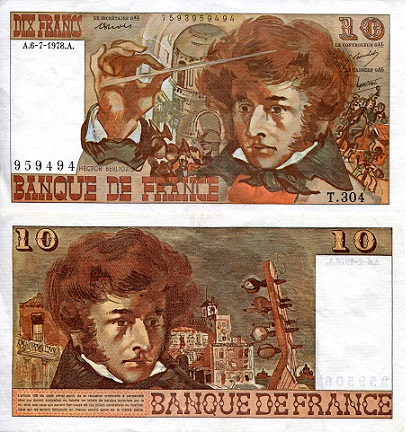 10 Francs  XF/VF (see large scan) Banknote