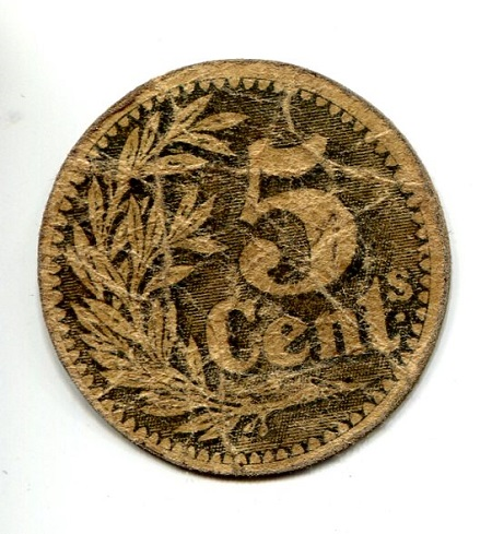 5 VG (see large scan) Card Coin