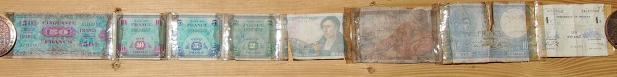 French 8 Note Short Snorter Belt  Used 8 Banknote Set