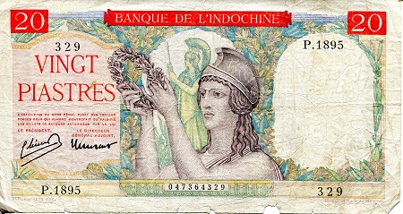 20 Piastres  VG (see scan) Banknote