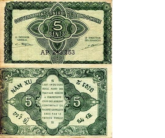 5 Cents  VF Banknote
