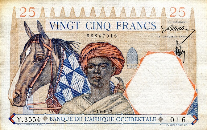 25 Francs  VF (see scan) Banknote