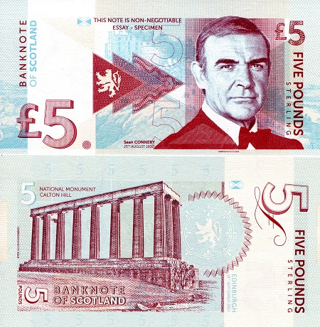 5 Pounds  UNC Banknote