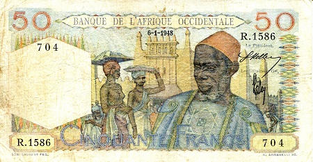 50 Francs  F (see scan) Banknote