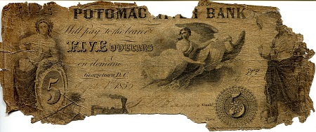 5 Dollars  Poor (see scan) Banknote