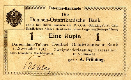 1 Rupie  VF/F (see large scan) Banknote