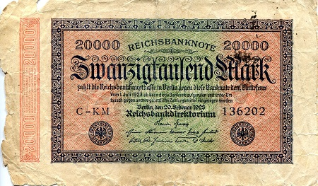 20,000 Mark  G/Poor (see large scan) Banknote