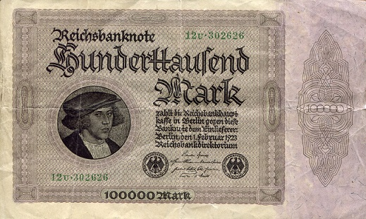 100000 Marks  F Banknote