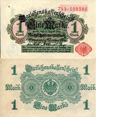 1 Mark  VF+ (see large scan) Banknote