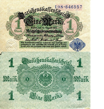 1 Mark  VF (see large scan) Banknote