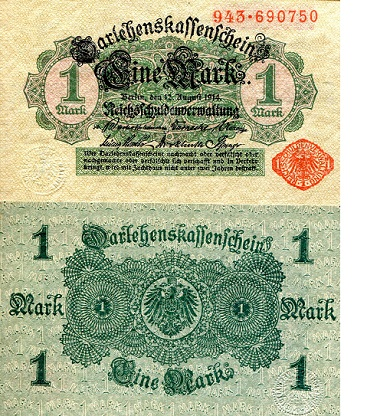 1 Mark  XF/VF (see large scan) Banknote