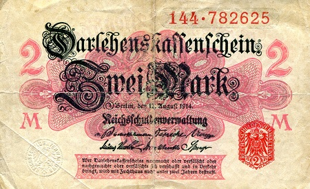 2 Mark  VG/G (see large scan) Banknote