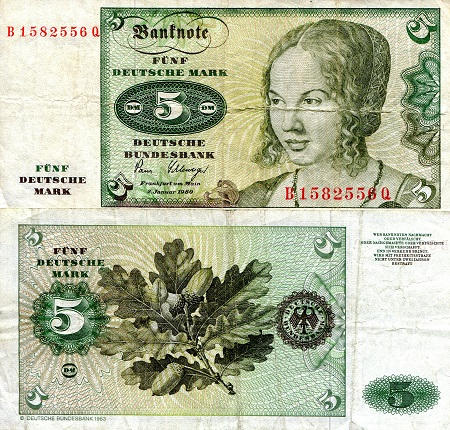 5 Marks  VF/F (see large scan) Banknote
