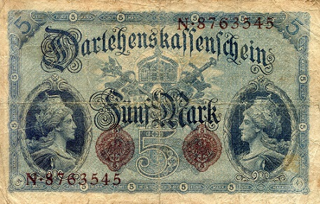5 Marks  F Banknote