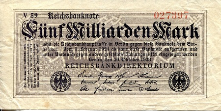 5 million Marks  VF/F (see scan) Banknote