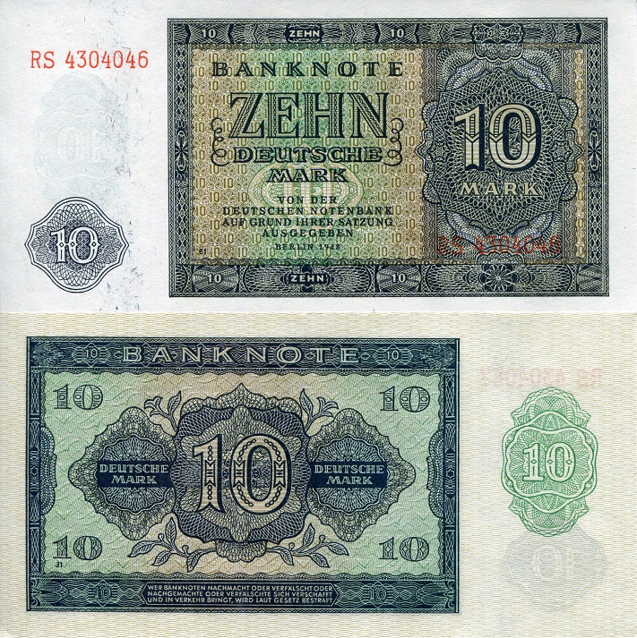 10 Marks  UNC Banknote