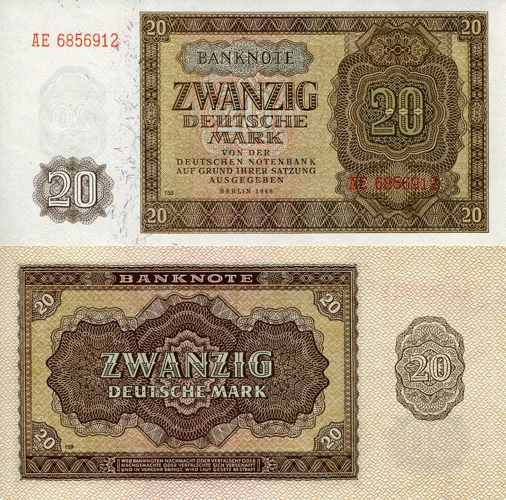 20 Marks  UNC Banknote