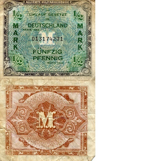 1/2 Marks  F Banknote