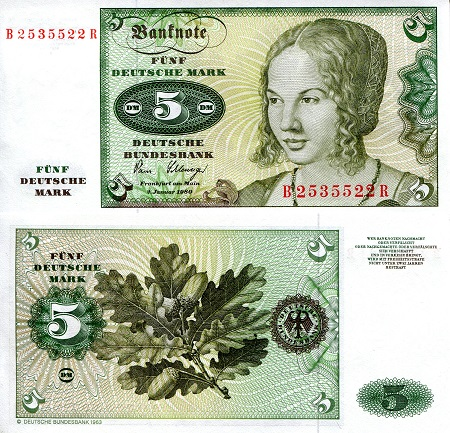 5 Marks  UNC Banknote