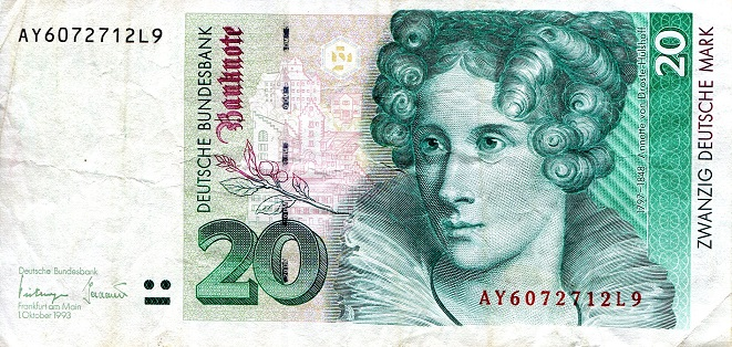 20 Marks  VF/F (see scan) Banknote