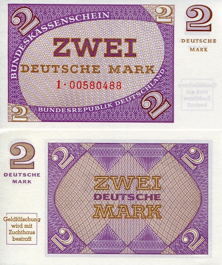 2 Marks  UNC Banknote