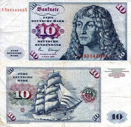 10 Marks  F/VG (see scan) Banknote