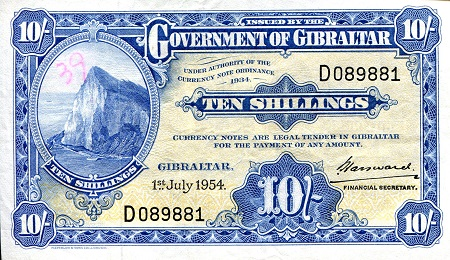 10 Shillings  aUNC/XF (see scan) Banknote