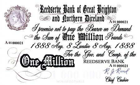 1 Million Pounds  UNC Banknote