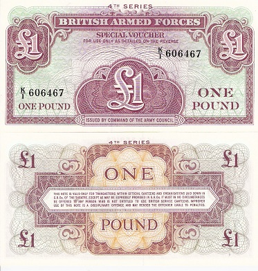 1 Pound  VF (poorly cut edges) Banknote